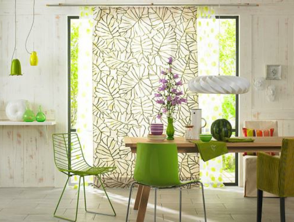 pop stil wohnen schöner ideen esszimmer grün