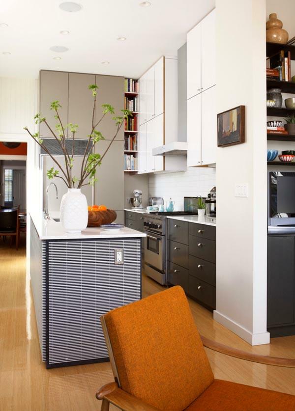 küchenlösungen für kleine küchen kücheninsel schwarz weiße möbel