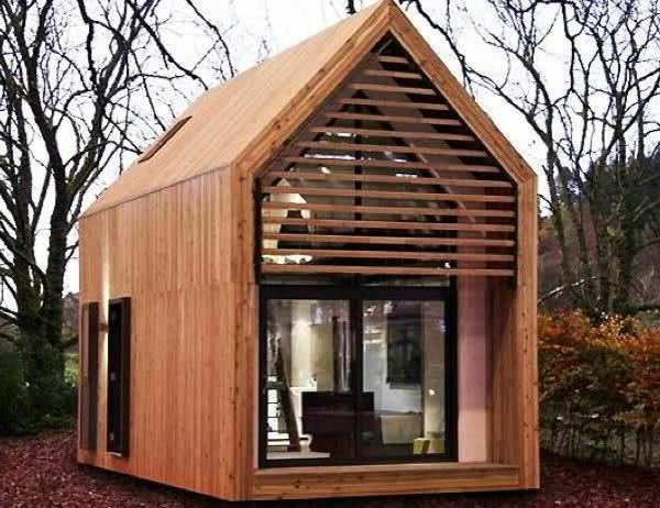 günstige spitzdach fenster minihäuser holz klein