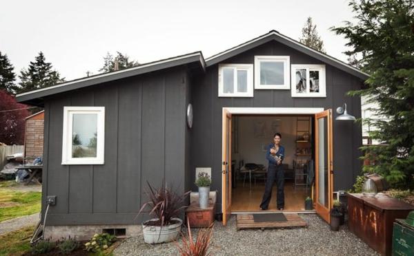 günstige minihäuser klein kompakt fassade
