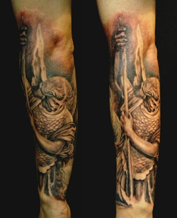 tattoo unterarm motive erzengel michail