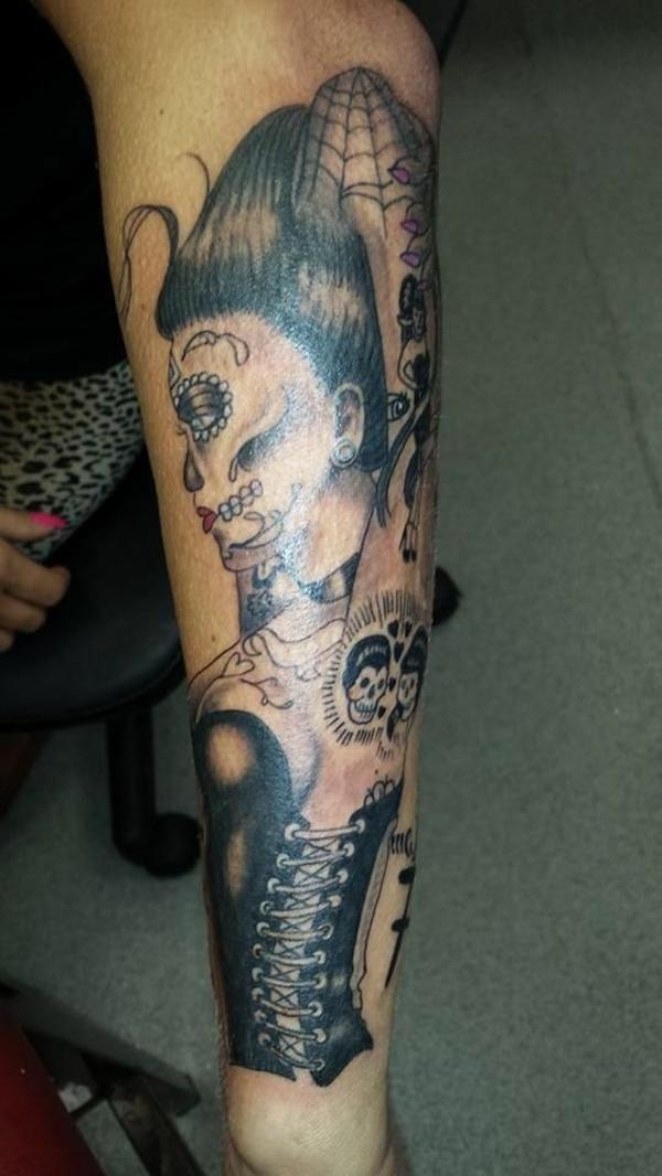 Graveyard Sleeve Tattoo Designs
