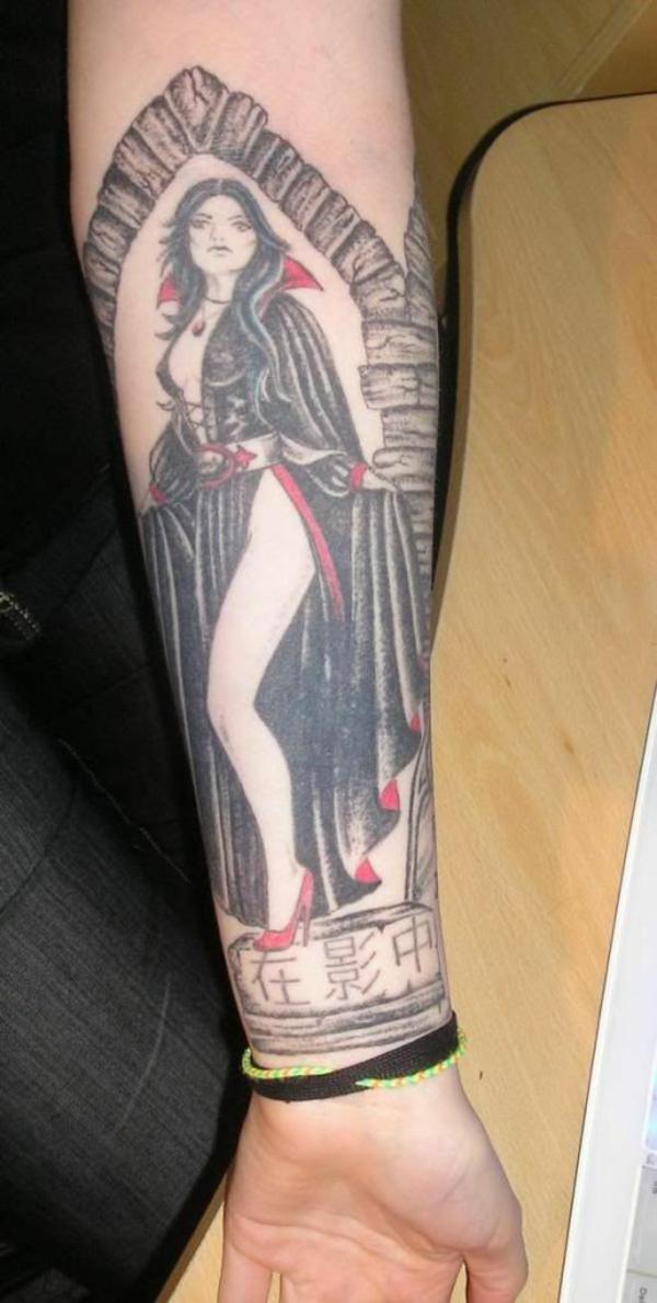 tattoo unterarm bilder für männer vampir