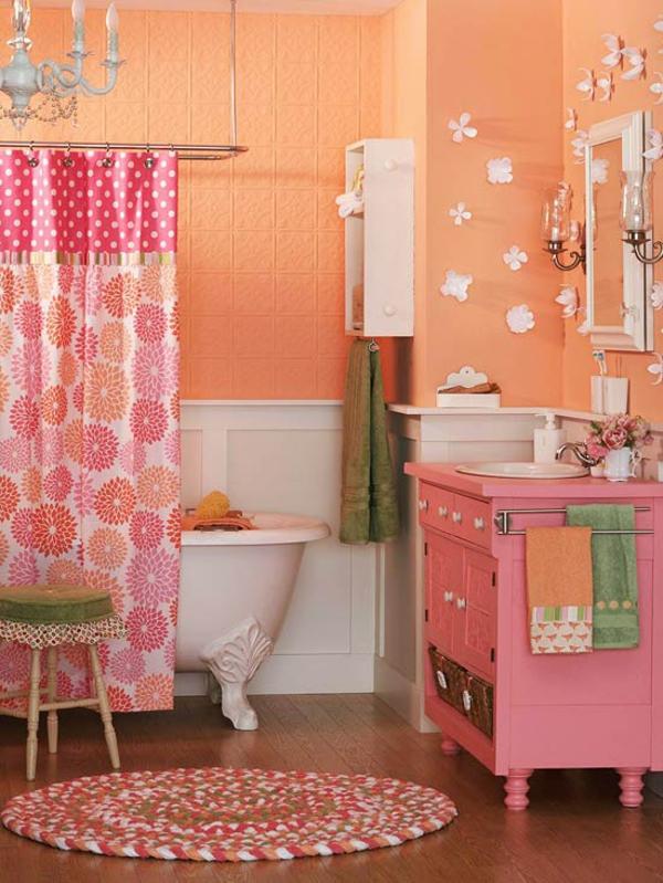 Rosa Badezimmer Gestaltungsideen Badmöbel
