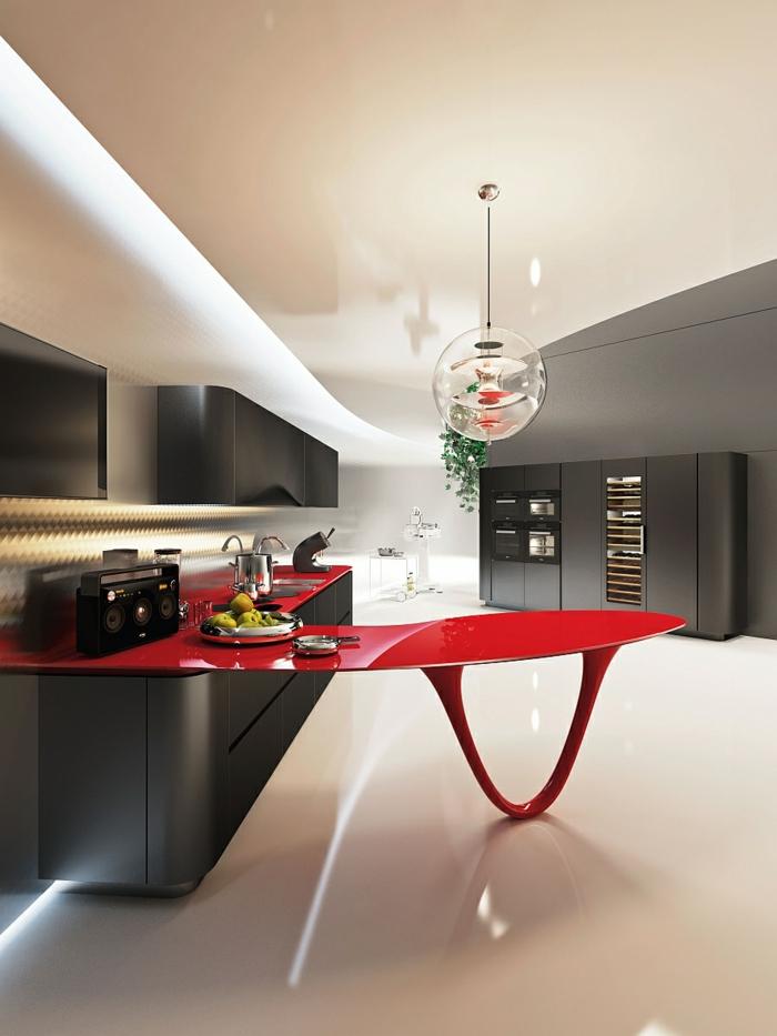 rote designerküchen moderne küchen italienisches design auto inspiration