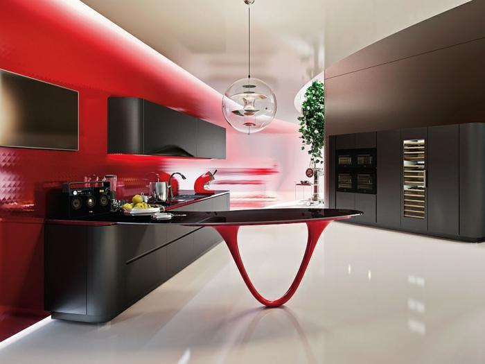 rote designerküchen moderne küchen italienisches design
