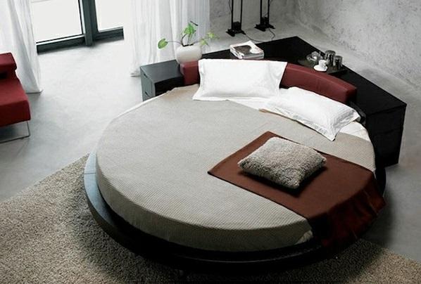 15 runde betten auf moderner plattform eleganz und ruhe. Black Bedroom Furniture Sets. Home Design Ideas