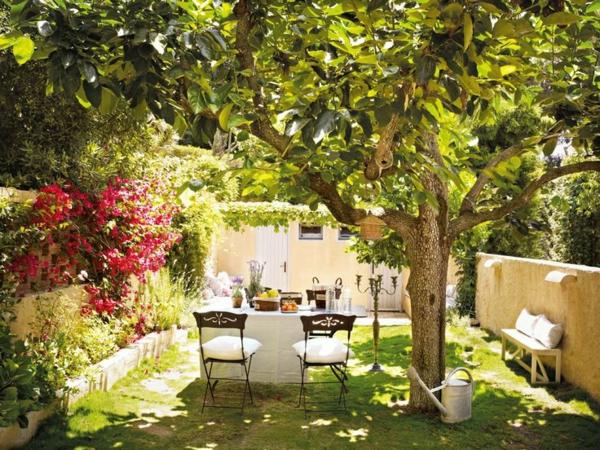 schöne Gartenideen garten bilder gartendekoration schatten