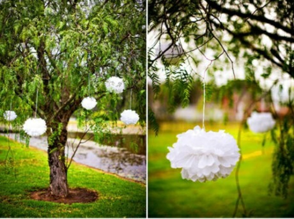 garten bilder gartendekorationen Gartenideen baum weiß stücke