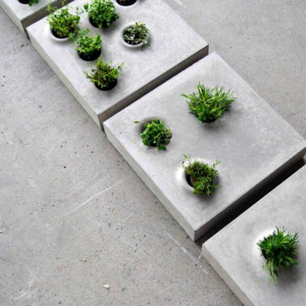schöne Gartenideen garten bilder gartendekorationen beton