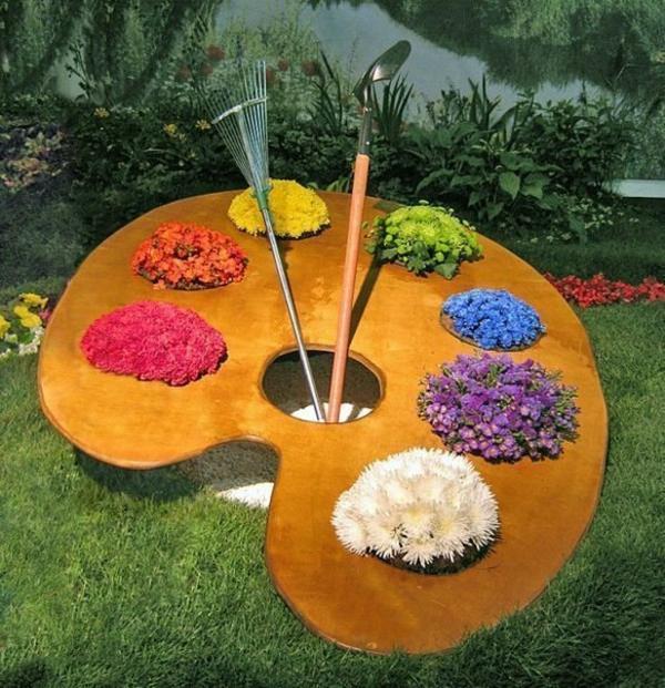Gartenideen garten bilder gartendekorationen farbpalette