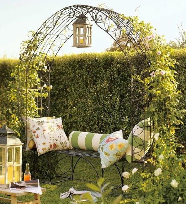 schöne Gartenideen garten bilder gartendekorationen gartenlaube