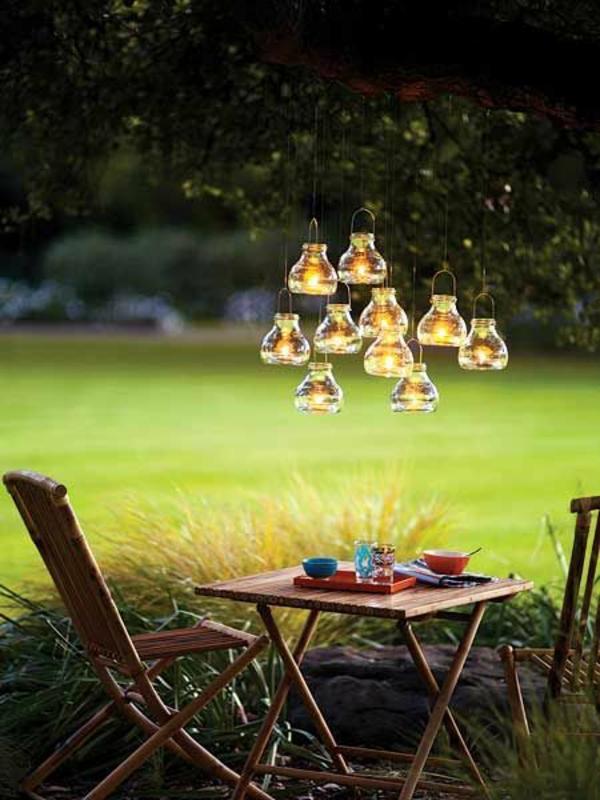 garten bilder gartendekorationen lichter schöne Gartenideen