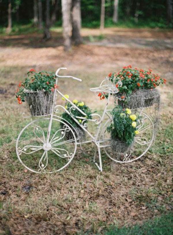 fahrrad Gartenideen garten bilder gartendekorationen metall