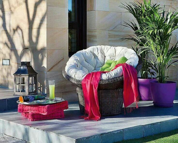rattan Gartenideen garten bilder gartendekorationen sessel