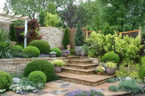 schöne Gartenideen garten bilder gartendekorationen treppe