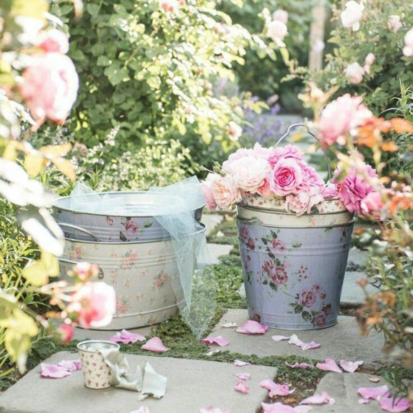 schöne Gartenideen garten bilder gartendekorationen vintage