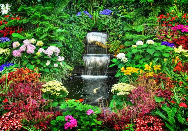 garten bilder gartendekorationen Gartenideen wasserfall