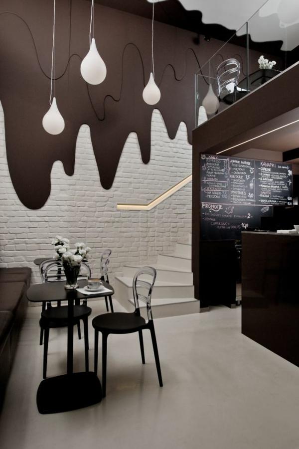 bar restaurant design ideen chocolate bar polen