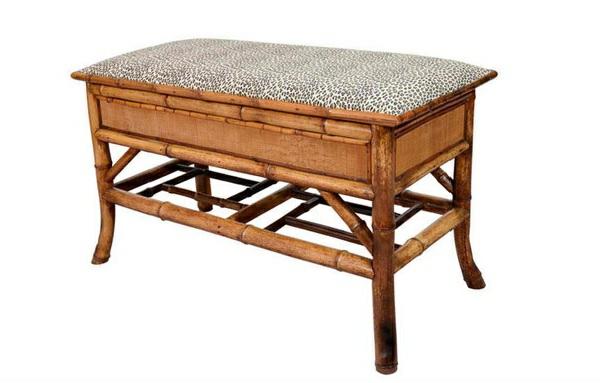 schlafzimmer bank ottomane bambus tiermuster schlafzimmer möbel