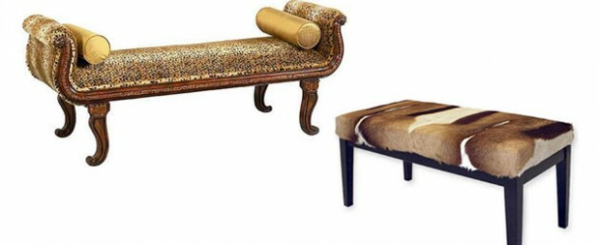 schlafzimmer bank ottomane tiermuster coole schlafzimmer möbel