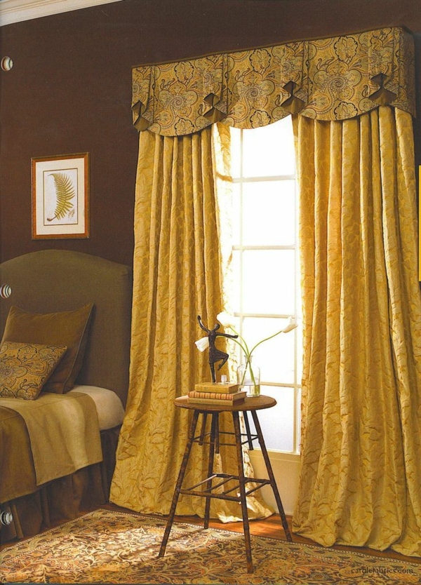 schlafzimmer gardinen drapierung vorhänge