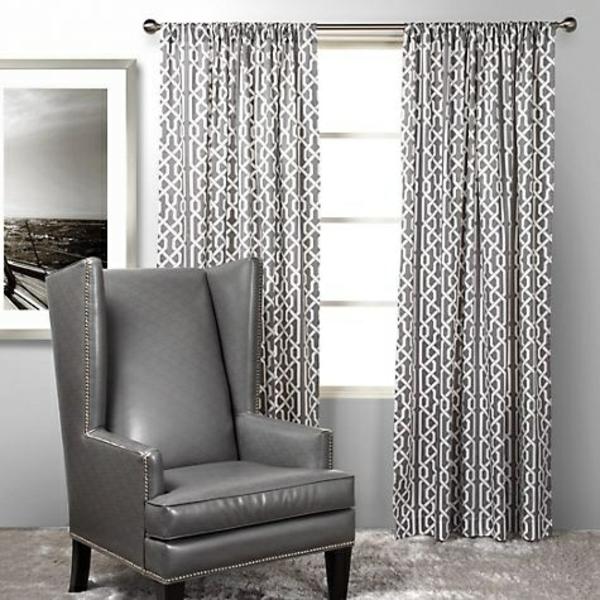 schlafzimmer gardinen ideen grau weiß