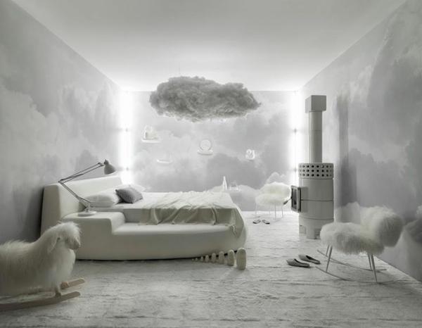 Schlafzimmer Schlafzimmerwand Gestalten Himmel Inspiration Images
