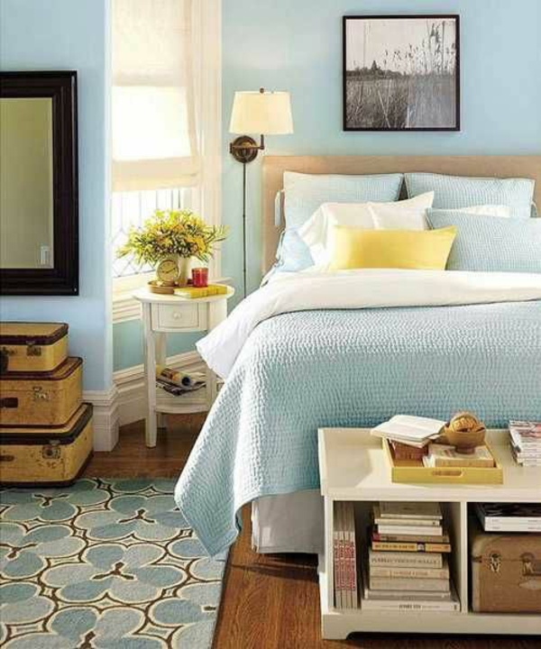 Master Bedroom Decor Ideas Heavenly Blue Bedroom Interior Decoration Of Bedroom Pink Master Bedroom Paint Ideas: Schlafzimmer Farbideen
