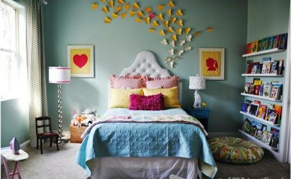 schlafzimmer ideen wohnaccessoires schmetterlinge an der wand bilder