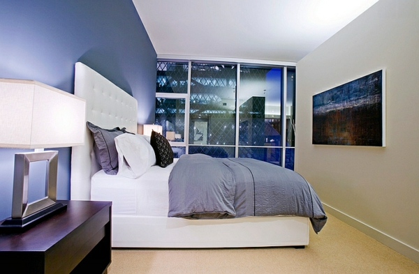 schlafzimmer innendesign modern leuchten
