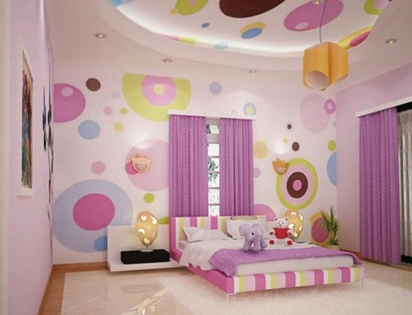 Schlafzimmer Wandgestaltung Design Rosa Lila 40 Individuelle  Designentscheidungen U2013 Schlafzimmerwand Gestalten ...