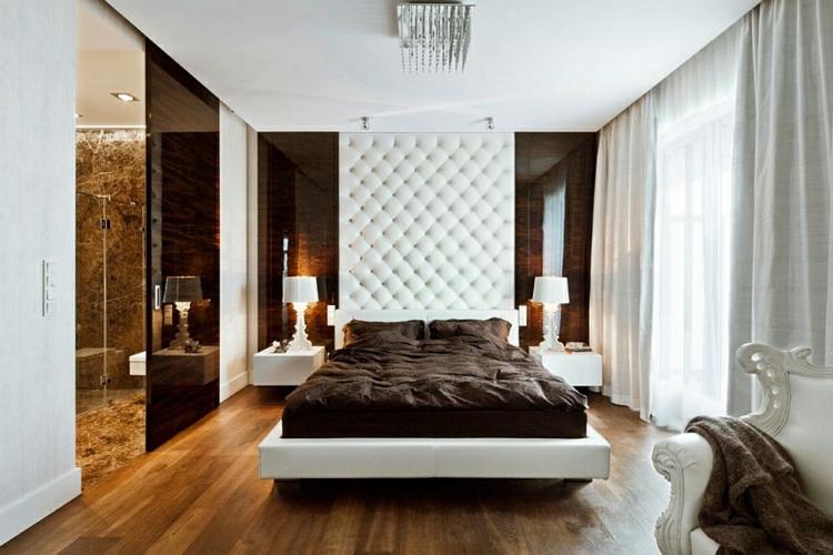 schlafzimmer wand gestalten polsterung einrichtungstipps modern wohnen