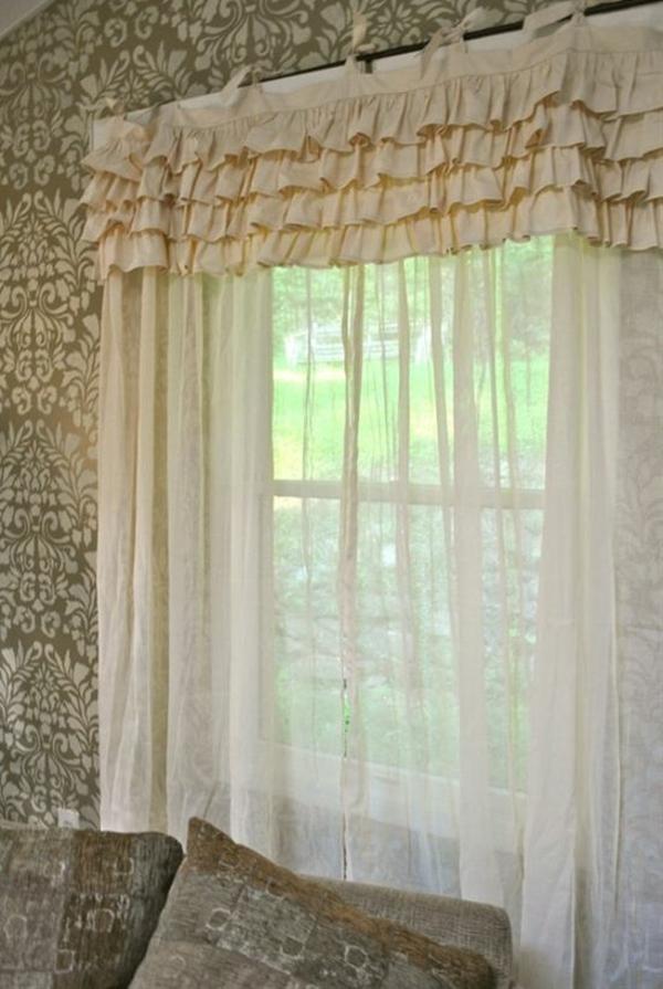 schlafzimmergardinen und vorhänge beige drapierung