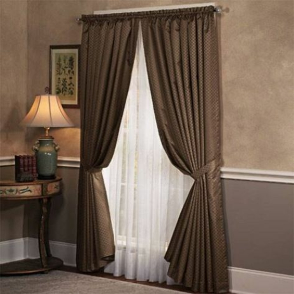 Genial Schlafzimmergardinen Und Vorhänge Ideen Braun Weiß