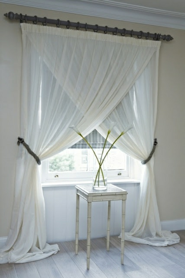 schlafzimmer gardinen und vorhänge ideen