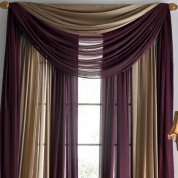 schlafzimmergardinen und vorhänge beige und lila