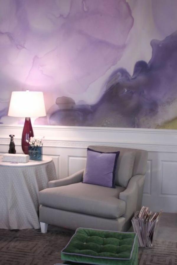 schlafzimmerwand gestalten wand art