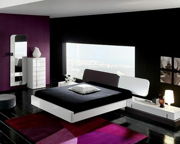 40 Individuelle Designentscheidungen - Schlafzimmerwand Gestalten Schlafzimmer Gestalten Lila