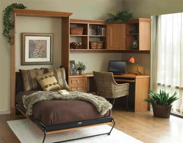 Schrankwand mit klappbett wohnideen f r praktische for Jugendzimmer mit klappbett