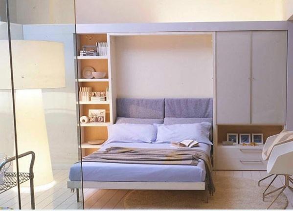 schrankwand mit klappbett wohnideen f r praktische wandbetten. Black Bedroom Furniture Sets. Home Design Ideas