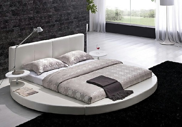 15 runde betten auf moderner plattform eleganz und ruhe. Black Bedroom Furniture Sets. Home Design Ideas