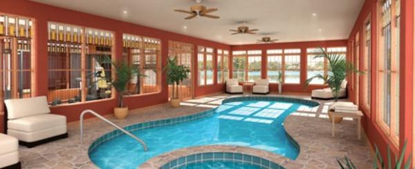 schwimmbecken im innenbereich wohnideen
