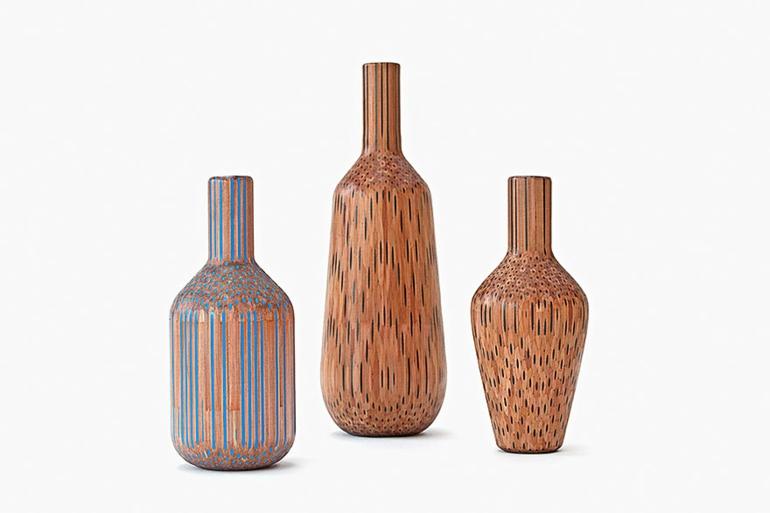 skandinavisches möbel deko vasen aus holz amalgamated tuomas markunpoika