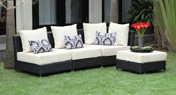 stilvolle rattanmöbel outdoor sofa hocker polyrattan
