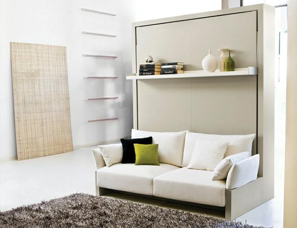 klappbett sofa schrankbett weiß