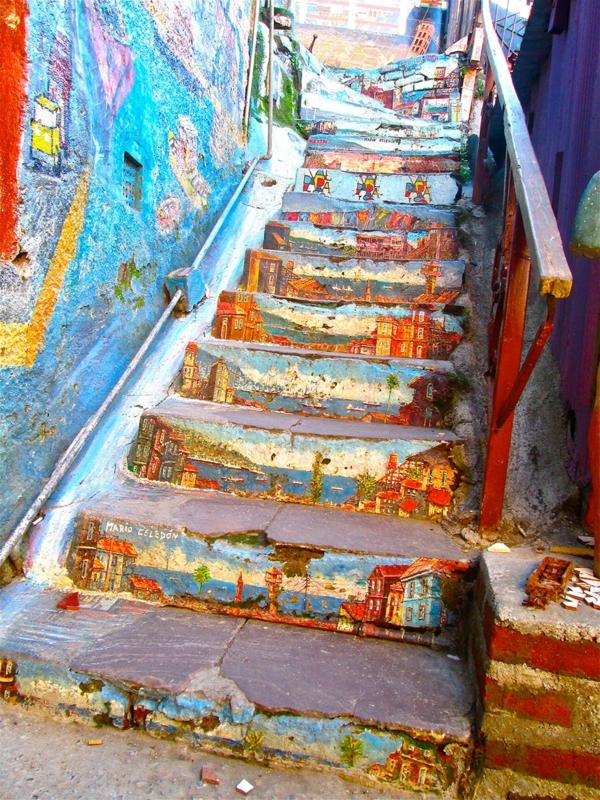 außenarchitektur art treppen verkleiden chile