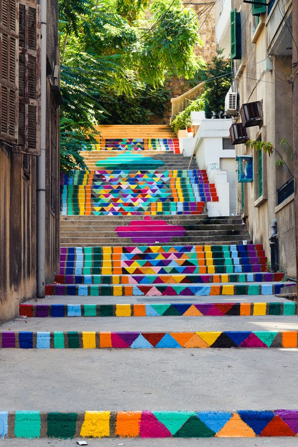 außenarchitektur art treppen verkleiden libanon