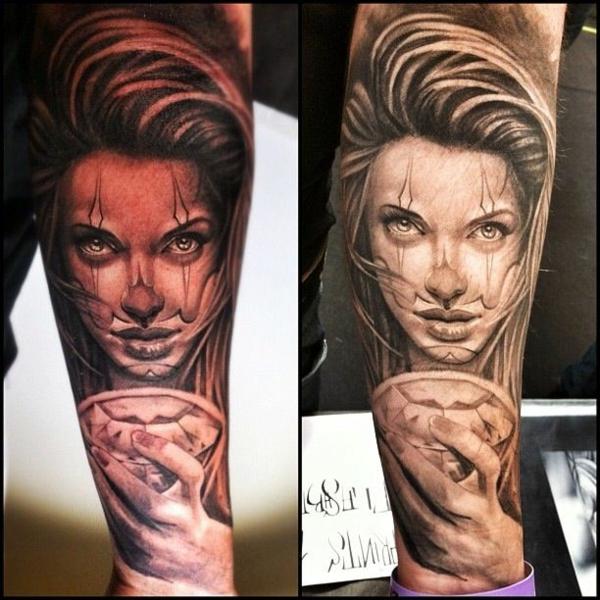 tattoo motive frau unterarm trendy