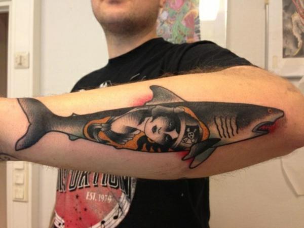 tattoo unterarm bilder ideen für männer hai